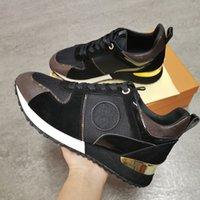 Away Sneakers Homens Mulher Sapatos De Couro Real Homens Racer Sapatilhas De Esportes Mulheres Lace-up Black Brown Sapatos Flats Casual Trainers Tênis