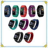 ID115 ID116 plus Smart Armbanduhr Herzfrequenz Fitness Tracker ID115HR Wasserdichte Uhrenarmband Armband für Android Cellphones MI Band DHL