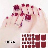 New Adhesive Toe Nail Sticker Glitter Sommer-Art-Tipps Full Cover Toe Nail Art Supplies Fuß Aufkleber für Frauen Mädchen
