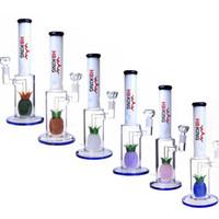 K130 Glas Wasserleitung Lila Ananas Percolator Gerade Röhrchen Glas Wasserleitung Klein Recycler DAB Rigs Recycler Rosa Glas Wasser Bong
