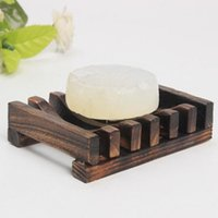 Pratos de sabão madeira carbonizada prova de umidade Soap titular de sabão Prateleira Supplies processamento personalizado Conservantes Handmade verde Atacado HHE1452