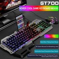 Teclado Mouse Combos Combos Mecânicos para Desktop Home Office Rainbow Retroiluminado Mudo Acessórios Computador Gaming USB Wired Waterproof