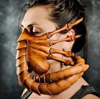 Halloween Scorpion Masque Nouveau Facehugger Masque Alien Alliance Griffes insectes Xenomorph Hugger Costume visage Worm PU masque en cuir