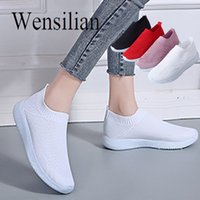 Hot Sale- Summer Flats Women White Sneakers Slip On Shoes For...