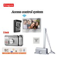 Fingerabdruck-Zugangskontrolle Wifi-Gegensprechanlage mit Schloss 7-Zoll-Video-Türklingel-System Wireless-Kamera-elektronische SYS