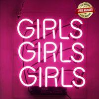"""نيون علامات فتاة الفتيات النيون جدار ديكور ضوء تسجيل الصمام لغرفة النوم الكلمات بارد الفن النيون تسجيل لطيف 12 """"x10.6"""" شحن مجاني"""