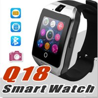 Q18 Smart Watch Watches Bluetooth SmartWatch pulsera reloj con cámara TF SIM Tarjeta Slot / Pedómetro / Anti-perdido / para teléfonos Android de Apple