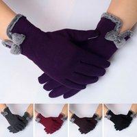 Women Ladies Winter Warm Thick Soft Cashmere Touch Screen Fleece Gloves GU
