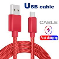 USB كابل نوع C كابل محول مزامنة البيانات معدنية شحن الهاتف محول سمك مزين قوي كبل USB الصغير