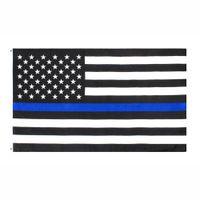 Amerikaanse stock directe fabriek groothandel 3x5fts 90cmx150cm wetshandhavingsfunctionarissen VS Amerikaanse Amerikaanse politie dunne blauwe lijn vlag