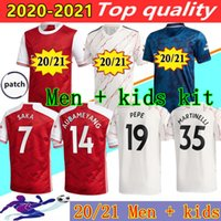 20 21 Arsen Soccer Jersey 2020 2021 Pepe Saka Willian Nicolas Ceballos Guendouzi Sokratis Tierney Henry Football Shirt Men + Kids Kit