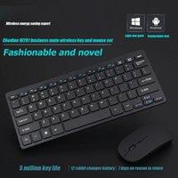 2.4G sem fio 77 Chaves do teclado 1600dpi silencioso Optical Mouse Mini Teclado Multimídia rato Combo Set Para PC Notebook Laptop