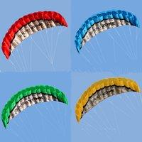 عالية الجودة 2.5 متر الأصفر المزدوج الخط parafoil طائرة ورقية مع أدوات الطيران السلطة جديلة الإبحار kitesurf rainbow الرياضة الشاطئ