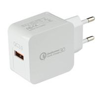 QC 3.0 빠른 빠른 무료 여행 충전기 홈 AC하려면 전화 USB 벽 충전기 미국 / EU 플러그 DHL 충전