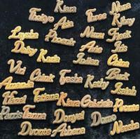 Custom Nome Cursivo Gravar Letter Colar com Corrente de Tênis 20inch para Homens Mulheres Micro Penhasco Penhasco Sólido Back Hip Hop Rock Street Jóias