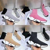 Diseñador de la zapatilla de deporte de velocidad 2.0 Hombres Mujeres Técnica 3D Negro tejer Stretch Kit Slip-en los zapatos ultra-articulada inferior Runner Formadores con la caja