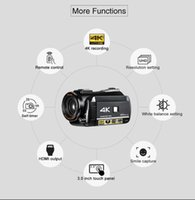 ordro UHD 4k WIFI digital video camera with 3.0'' Touch display wifi night vision digital video camcorder microphone lens