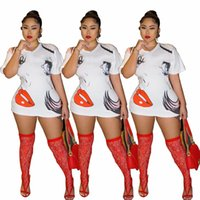 Femmes lettres Robes Casual Oversize T-shirts Mode filles Robes Cartoon Femmes Robe Impression court pour Sexy Summer