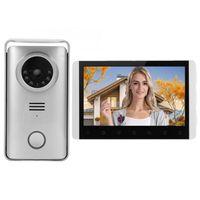 Doorbells 7 인치 TFT LCD 2.4G 무선 Visual Docrebell 야간 시계 비디오 도어 폰 인터폰 보안 시스템 100-240V