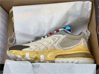 Трэвис Скотт х 270S ENG Реагировать Cactus Jack Трассы Мужские кроссовки Starfish Dark Желто Мужчины Женщины Мода Спорт Дизайнер Sneaker