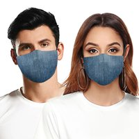 Fashion Face Mask Dust-proof Breathable Washable Reusable Protective Mask Jeans Camouflage Printing Masks For Men And Women HHB595