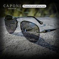 CAPONI 2020 Avation 남성 편광 합금 안티 반영 남성 UV400 Bs6179을위한 선글라스 변색 드라이버 차양