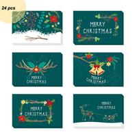 Noël carte de voeux Set d'impression créative de bande dessinée Belle vacances message cadeau Blessing Cartes d'enveloppe Autocollants Set VT1612