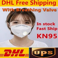 DHL Free Ship KN95 Face Masks With Breathing Valve Disposabl...