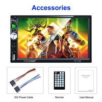 On-board 7 inch touch Bluetooth screen MP5 FM USB TF AUX player video support rear view camera signal input mirror link with Android&IOS phone car multifunction