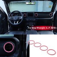 Pink Ashboard Air Conditioning Vent Trim For Jeep Wrangler JL JT 2018+ Factory Outlet Auto Internal Accessories