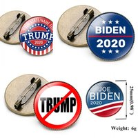 Partidarios Trump Biden pernos de la solapa Carta de Apoyo Broche Pin Elección General de América Tiempo de hojalata Gems 1 F2 2NH