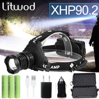 Most Powerful XHP90. 2 Led Headlamp 8000LM Head lamp USB Rech...