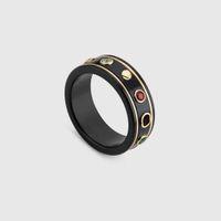 anillos negros de moda bague anillos moissanite para hombre y mujeres la boda del compromiso regalo del amante de la joyería