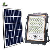 LED Solar LED 100W 200W 300W 400W Sensor de radar Timing Lâmpada de jardim solar rua iluminação ao ar livre com remoto