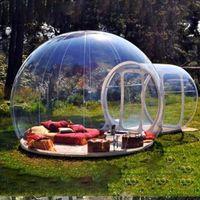 무료 배송 야외 작은 방수 거품 텐트 돔 하우스 광고 이글루 투명 가족 캠핑을위한 투명한 가족 풍선 텐트