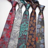 Linbaiway Men's Floral Print Neck Ties for Man Casual Slim Tie Gravata Wedding Business Neckties New Design Men Polyester Ties