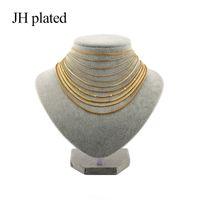 سلاسل Jhplated الأفريقي العصرية الذهبي القلائد طول 45 سنتيمتر أزياء الرجال النساء المجوهرات صديق جيد هدية عيد للبنات هدية
