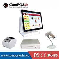 Monitores de la pantalla táctil de 15 pulgadas se establece todo en uno para la cafetería PC de la impresora del escáner del escáner