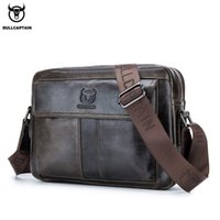 BULLCAPTAIN new 2020 leather shoulder bags mens diagonal bages is a business briefcase large capacity casual handbags
