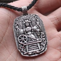 10 unids gótico diosa del destino vikingo joyería runas amuleto colgantes collares mujeres día de las madres regalo al por mayor