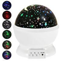 나이트 라이트 프로젝터 램프 별이 빛나는 하늘 LED 프로젝터 어린이 키즈 베이비 낭만주의 주도 프로젝션 램프 파티 장식 바다 선박 GGA3710