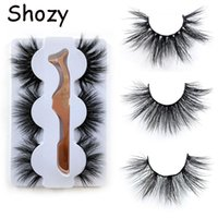 Falska ögonfransar Shozy 3 Pare 3D-mink Naturlig lång förlängning för sminkfransar med applikator-49