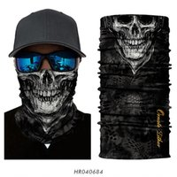 3D Cycling Bandanas Mascarillas Skull Masks Camouflage Headband Motorcycle Face Mask Ghost Neck Gaiter Scarf Bandana Men Women