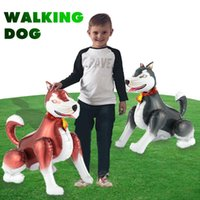1PC 3D Walking Dog Foil Balloons Happy Birthday For Boy Air Balloons party decorations Kids Animal Toys Globos Smart Husky ball