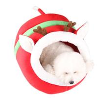 بيت الكلب عش القط الكلب خيمة مريح كهف مجلس النواب قابل للغسل عيد الميلاد الحيوانات الأليفة سرير دافئ مع قابل للنقل وسادة وسادة مريحة هريرة كهف