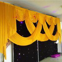 Top ventes mariage scène de fête de rideau de mariage de la décoration de mariage de soie de glace rideaux festons rideaux de toile de fond décoratif