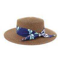 2020 Caps fieltro mujeres de primavera y verano clásico retro de las señoras de jazz caliente manera femeninos sombreros de ala plana de paja sombrero de copa