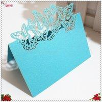 인사말 카드 10 / 50pcs 화이트 생일 장소 표 장식 레이저 잘라 패턴 웨딩 이름 카드 5z