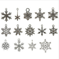 Christmas series Vintage Xmas Snowflake Findings Charms Mixe...