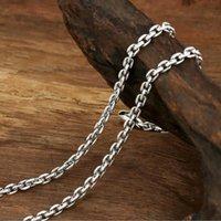 Ожерелье год сбора винограда цепи 100% 925 стерлингового серебра ювелирные изделия кулон ожерелье для женщин и мужчин S0568